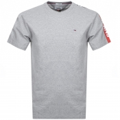Tommy Jeans Crew Neck Logo T Shirt Grey
